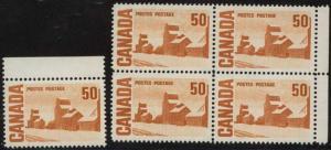 Canada - 50c Centennial PVA Gum X 5 VF-NH #465Aiv