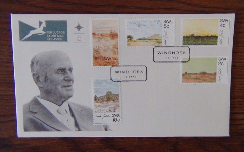 South West Africa 1973 Scenery Paintings by Adolph Jentsch on First Day Cover