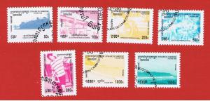 Cambodia #1484-1490 VF used  Various Scenes   full set   Free S/H