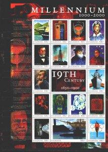 Uganda. 2000. Small sheet 2249-65. Achievements of Science, Millennium. MNH.