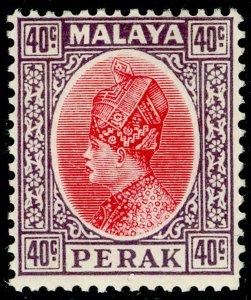 MALAYSIA - Perak SG98, 40c scarlet & dull purple, VLH MINT.