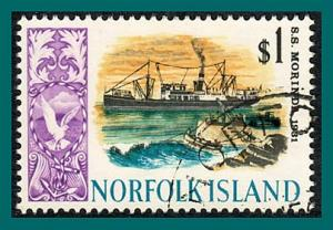 Norfolk Island 1968 Ships (series 4), $1 used  #113,SG90