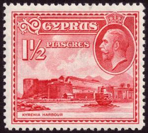 Cyprus 1934 1½pi Carmine SG137 MH