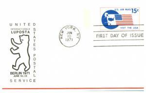 #UXC11 Visit The USA Postcard  - Unknown Cachet MS