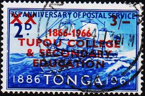 Tonga. 1966 3s on 2d S.G.167 Fine Used