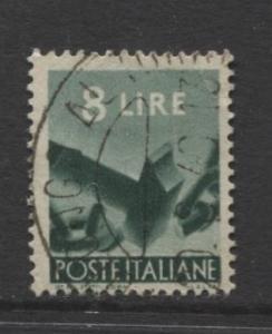 Italy - Scott 486 - Definitive -1947 -VFU - 8I Stamp