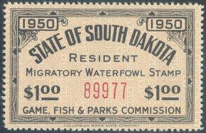 US South Dakota Scott #2 Mint, VF/XF, NH