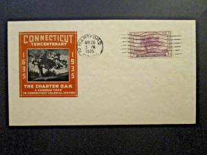 US SC# 772 FDC / Hartford CDS / Chacheted / Unaddressed - Z4700