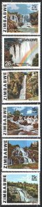 Zimbabwe. 1980. 236-41 from the series. Waterfalls. MNH.