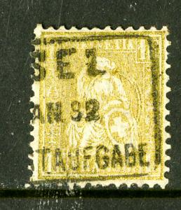 Switzerland Stamps # 68 USED Super Clean A Rarity Scott Value $1,300.00