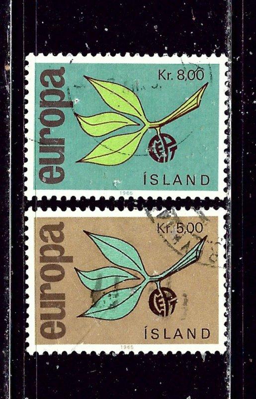 Iceland 375-76 Used 1965 Europa