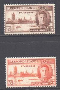 Leeward Is Scott 116/117 - SG115/116, 1946 Victory Set MNH**