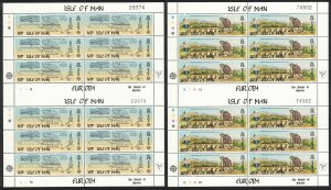 Isle of Man Europa CEPT The Great Laxey Wheel 2v Double Sheets RAR 1983 MNH
