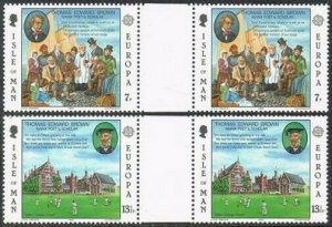 Isle of Man 174-175 gutter,MNH.Michel 164-165. EUROPE CEPT-1980.Thomas Brown,