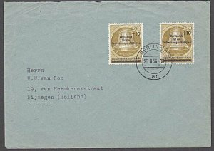 GERMANY 1956 Flood Victims overprint (2) on cover...........................B324
