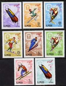 Ajman 1967 Grenoble Winter Olympics set of 8 (Mi 199-206A...