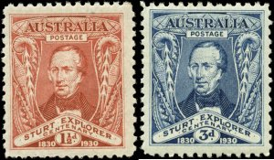 Australia Scott #104 - #108 Complete Set of 2 Mint Hinged