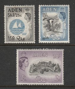Aden x 3 QE2 higher values MNH