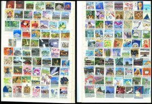 COLLECTION OF USED JAPAN STAMPS - About 900 In Stock Book See Pictures