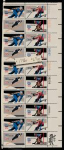 US Block of 20, Scott# 1798, MNH, US Olympics, plate numbers, zip, stored flat,