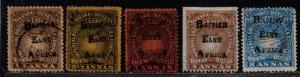 $British East Africa Sc#38//47 used+M/H/F-VF, part set, Cv. $325