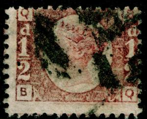 SG48, ½d rose-red PLATE 20, USED. Cat £75. BQ