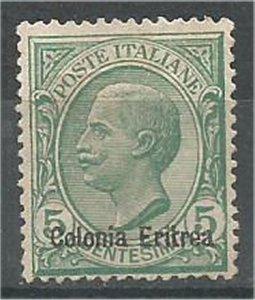 ERITREA,  1908, mint 5c , Overprinted Scott 35