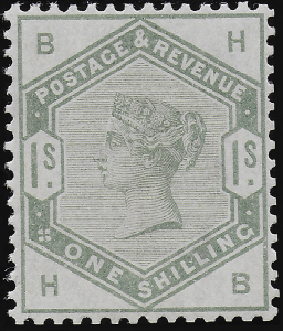 Victoria SG196/Sc107 1884 1/- Green --- UNMOUNTED Mint OG