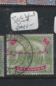 MALAYA SELANGOR   (P1605B)  $2 ELEPHANT  SG 62  FISCAL VFU