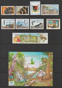 New Caledonia a small MNH lot + mini sheet