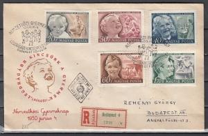 Hungary, Scott cat. 896-900. Children`s Day & Pioneers issue. First day cover. ^