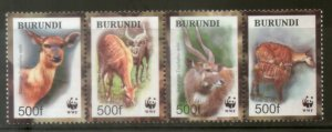 Burundi MNH 774-7 Antelope Deer Wildlife WWF 2004