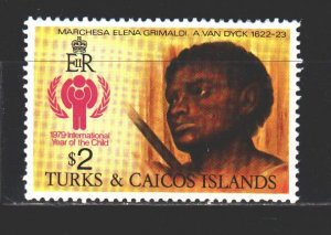 Turks and Caicos. 1979. 435 from the series. UNICEF, a fragment of paintings ...