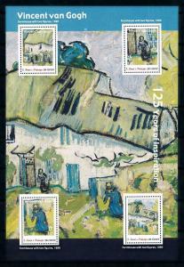 [100420] Sao Tome & Principe 2013 Painting Van Gogh Farmhouse Sheet MNH