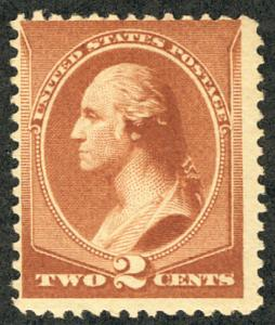 US #210 SCV $135.00 VF mint never hinged, strong deep dark color, nicely cent...