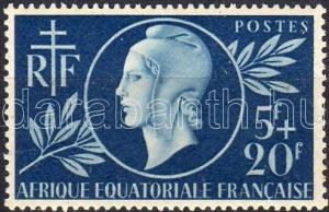 French Equatorial Africa stamp Mutual aid MNH 1944 Mi 244 WS5958