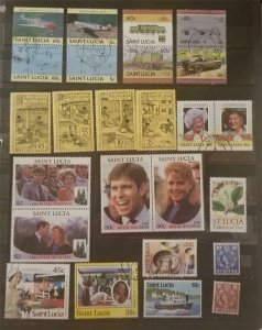 ST LUCIA Stamp Lot MNH Mint and Used G2222