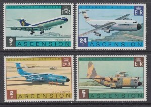 Ascension 185-188 Airplanes MNH VF