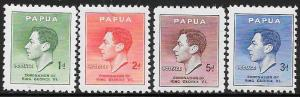 Papua 118-121 Unused/Hinged Hinge Remnant - George VI Coronation