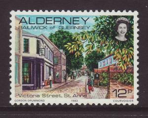 1983 Alderney 12p U/M SGA6