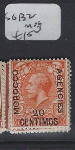 MOROCCO AGENCIES   (P1305B) KGV  20C   SG 132   MOG