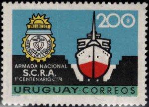 Uruguay Scott 896 MNH** Navy ship stamp