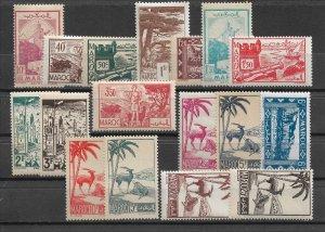 French Morocco 1945-47, Varies Scenes, Scott # 197-219, VF MNH** (FR-1)