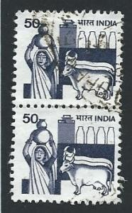 India Scott #914a 50p Dairy Industry Pair used