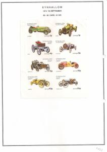 SCOTLAND - EYNHALLOW - 1974 - Cars - Imperf 8v Sheet - MLH