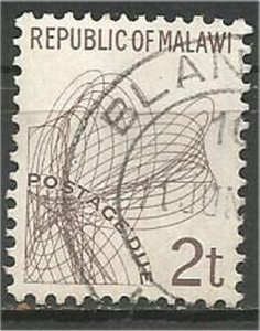MALAWI 1998 used 2t POSTAGE DUE Scott J7