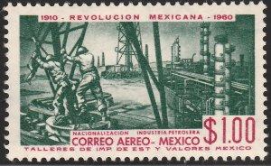 MEXICO C254, $1P 50th Anniv Mexican Revolution. MINT, NH. F-VF.