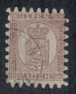 FINLAND #12a, 5pen Roul II, used, F/VF, Scott $300.00