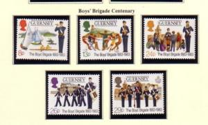 Guernsey Sc 255-9 1983 Boys' Brigade stamps mint NH