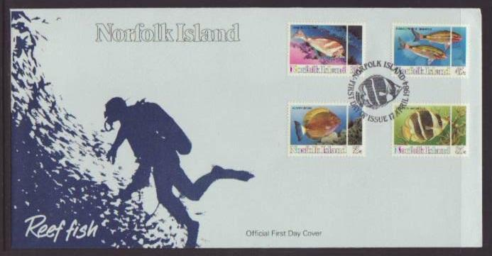 Norfolk Islands 339-342 Fish 1984 U/A FDC